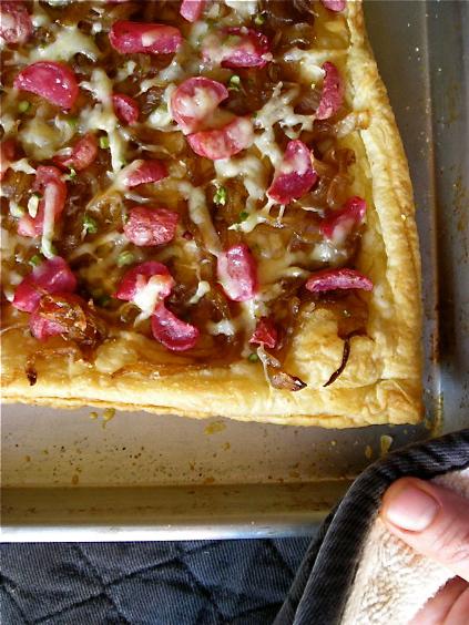 Roasted Radish & Caramelized Onion Tart ~~ Kate in the Kitchen