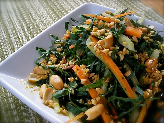 Kale Slaw with Peanut Dressing ~~ Kate in the Kitchen