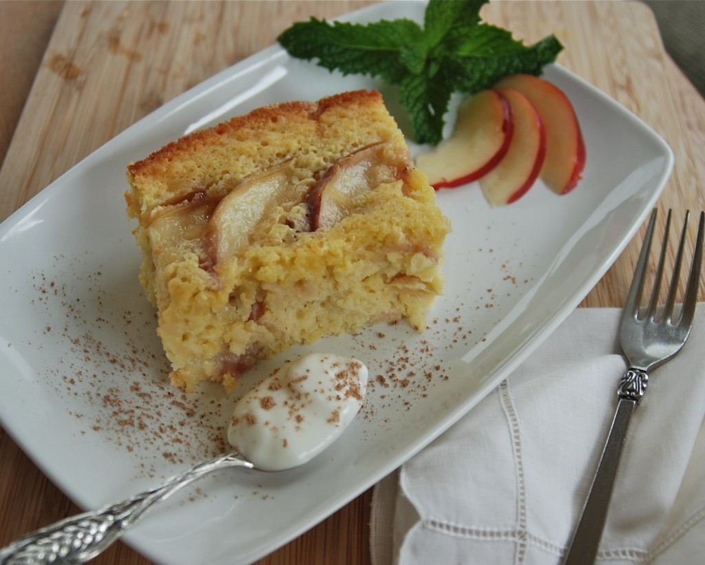 ginger nectarine cake ~~ kate in the kitchen