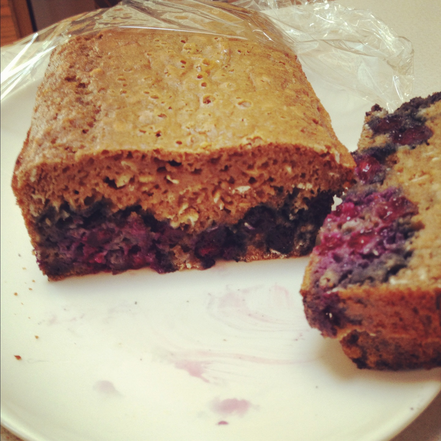 Blueberry Oat Quick Bread with sunken blueberries- that trick of ...