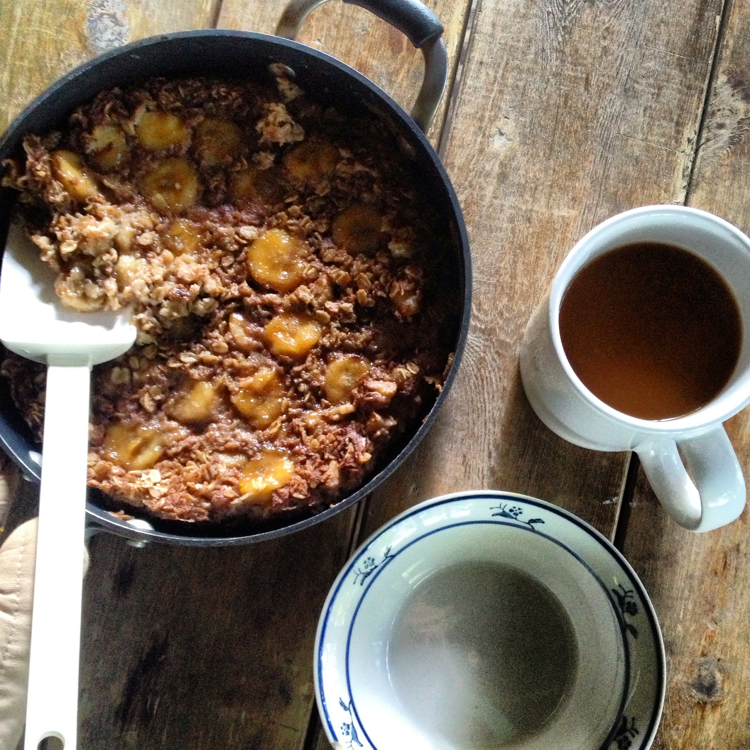 ... in the Kitchen — bananas foster baked oatmeal, and a perfect weekend