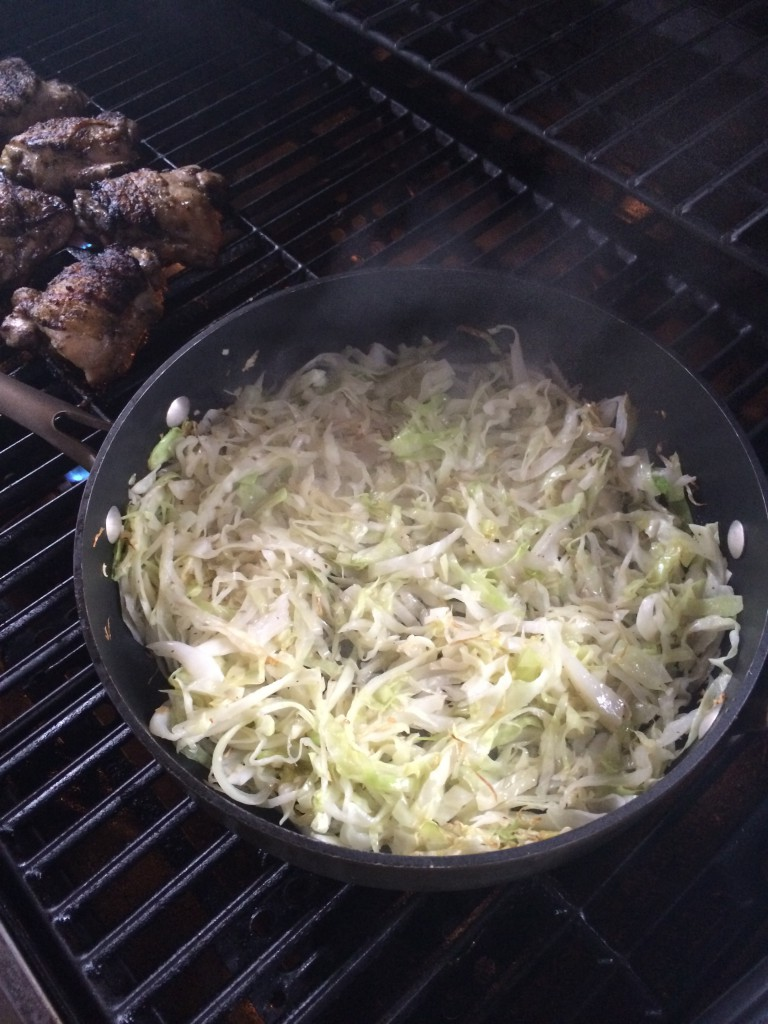 garlicky grilled cabbage ~~ kate in the kitchen