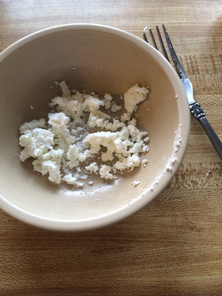 crumbled goat cheese ~~ kate in the kitchen